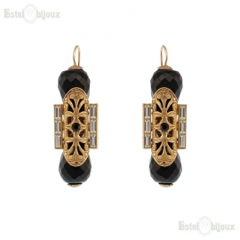 Filigree and Onyx Earrings