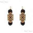 Filigree and Onyx Earrings