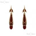 Drops Red Glass Earrings