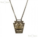 Ciondolo pendente con un originale medaglione del Sesquicentennial Philadelphia 1920
