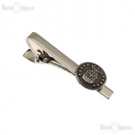 Tie Clip - Vintage Military Uniform Button - Brass