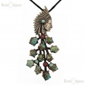 Indian Chief Turquoise Necklace