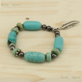 Turchese and Ematite Bracelet