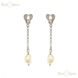 Pearl Earrings Silver