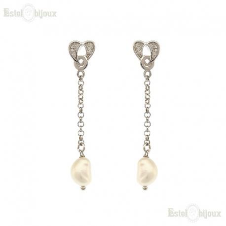 Pearl Earrings Silver