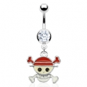 Cross Bone Pirate Navel Ring