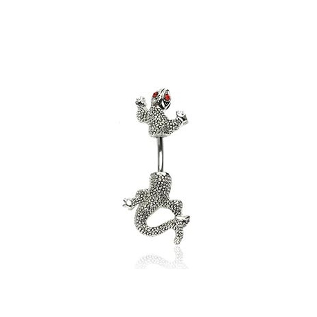 CZ Eyed Chameleon Navel Ring