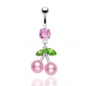 Pearl Cherries Navel Ring