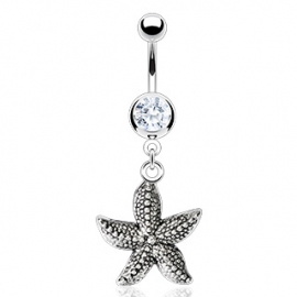 Starfish Vintage Casted Navel Ring