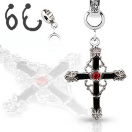 Croce Nero Piercing Ombelico