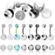 BioFlex Acrylic Balls Navel Ring