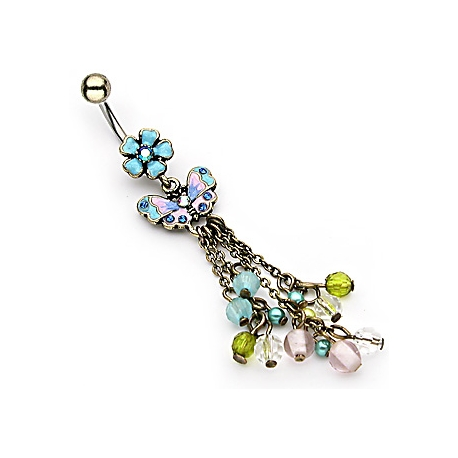 Vintage Flower Navel Ring