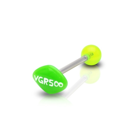14g Barbell w/ Acrylic Green AD Barbell Piercing