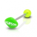 14g Barbell w/ Acrylic Green AD Barbell Piercing