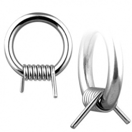 Barbed Wire Captive Bead Ring Piercing