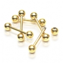 Barbell Gold IP Piercing