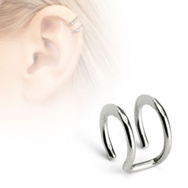 Double Closure Ring Non-Piercing Cartilage 'Clip-On'