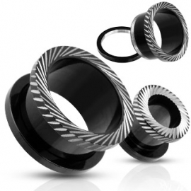 Vite-Fit Cerchio Nero Tunnel Plug
