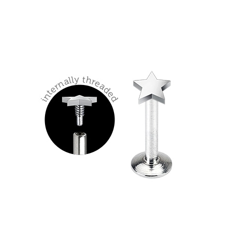 3mm Stella Flat Top Labbro Piercing