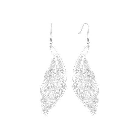 Laser Cut Leaves Dangle Earring