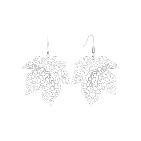 Laser Cut Maple Leaf Dangle Earring