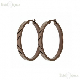 Ion Plated Dia-Cut Large Hoop Earing