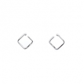 Orecchini Quadrato d'argento