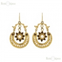 Gold Tone and Pearls Earrings