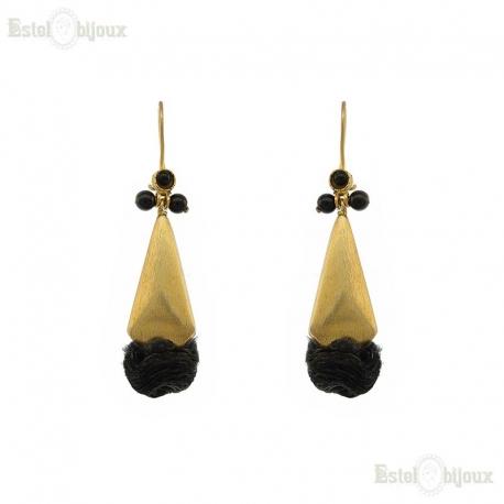 Onyx and Silk Earrings