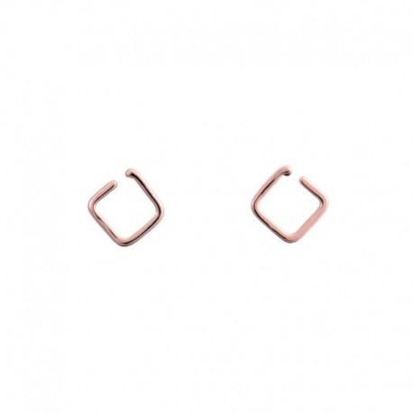 Orecchini Quadrato d'oro rosso