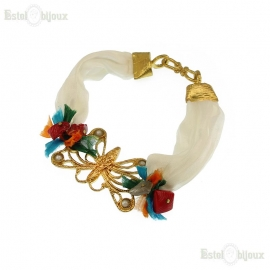 Silk and Stones Butterfly Bracelet