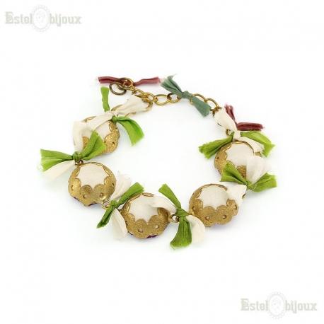 Silk Multicolor Brass Bracelet