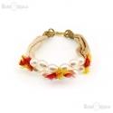 Silk and White Perls Bracelet