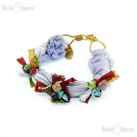 Silk and Pendants Bracelet