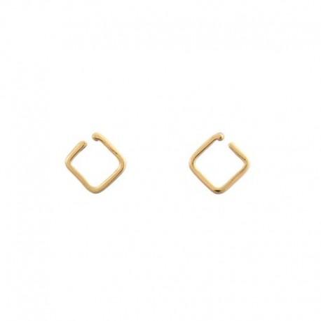 Orecchini Quadrato d'oro giallo