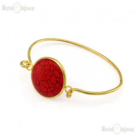 Bangle Red Turquoise Bracelet