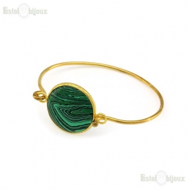 Malachite Bangle Bracelet
