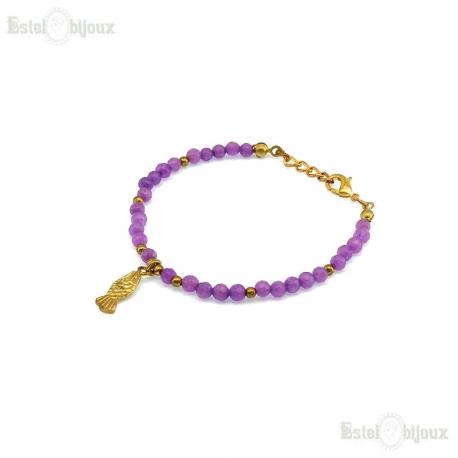 Stones and pendant Bracelet