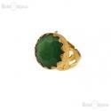 Anello Giada Verde