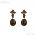 Natural Stones Brass Earrings