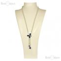Collana Swarovski Farfalla e Perle