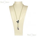 Swarovski Butterfly and Beads Necklace