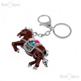 Cavallo Portachiavi Strass e Smalto