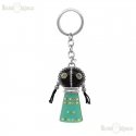 Azure Doll Strass and Enamel Keychain