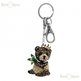 Teddy Bear Strass Pendant Keychain