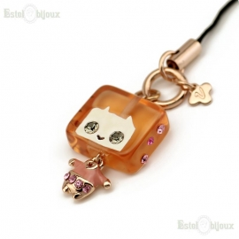 Square Man and Crystals Pendant