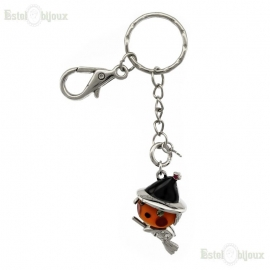 Witches Broom and Crystals Pendant Keychain
