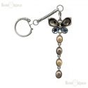 Butterfly and Crystals Pendant Keychain