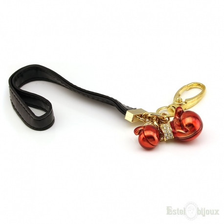 Red Boxing Gloves Pendant Key Chain