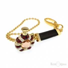 Bottle Gold Plated 18k Pendant Key Chain